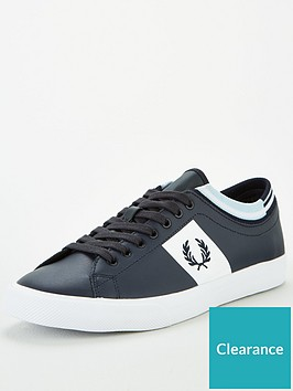 fred-perry-underspin-tipped-cuff-leather-trainer-navy