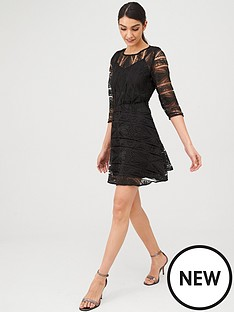 v-by-very-geo-lace-skater-dress-black
