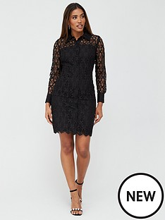 v-by-very-lace-short-shirt-dress