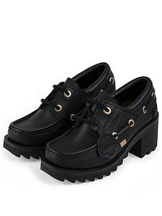 kickers-klio-lace-heeled-shoes-black