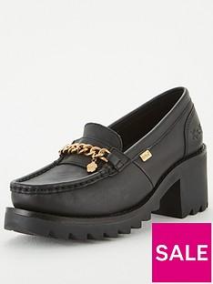 kickers-klio-chain-heeled-loafer-black