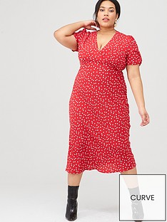 oasis-curve-polka-dot-midi-dress-multired