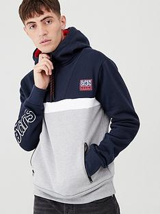 superdry-crafted-block-half-zip-hoodie-navygrey