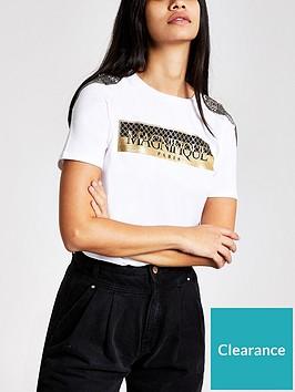 river-island-river-island-embellished-shoulder-foil-print-t-shirt-white