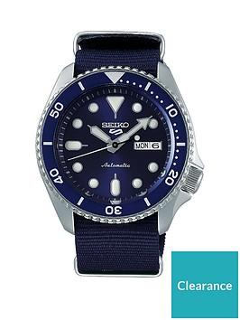 seiko-seiko-blue-sunray-daydate-dial-blue-nato-strap-mens-watch