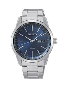 seiko-seiko-blue-sunray-daydate-dial-stainless-steel-bracelet-mens-watch