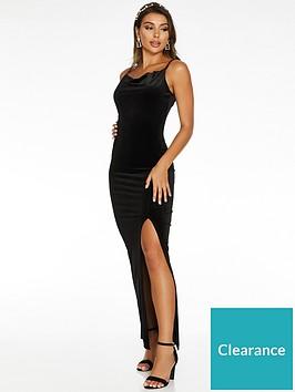 quiz-quiz-x-sam-faiers-velvet-cowl-neck-maxi-dress-black