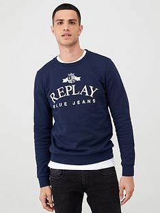 replay-blue-jeans-logo-print-sweatshirt-navy