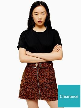 topshop-raw-hem-t-shirt-black