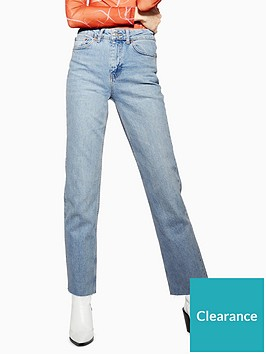 topshop-topshop-tall-straight-jeans-bleached