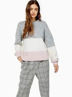 topshop-topshop-colour-block-stripe-jumper-multi