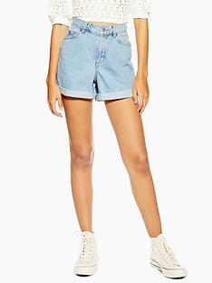 topshop-roll-hem-mom-shorts-blue