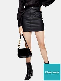 topshop-topshop-coated-joni-mini-skirt-black