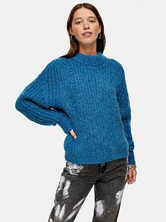 topshop-looking-glass-jumper-blue
