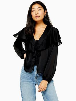topshop-plain-bed-jacket-blouse-black