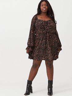 v-by-very-curve-sweetheart-neck-dress-giraffe-print