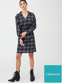 v-by-very-elasticated-waist-check-mini-dress