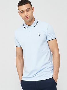 v-by-very-tipped-pique-polo-blue