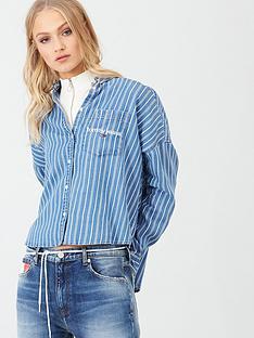 tommy-jeans-cropped-boxy-stripe-shirt-blue-stripe