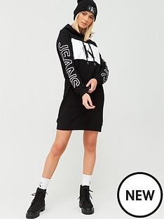 calvin-klein-jeans-statement-hoodie-dress-black