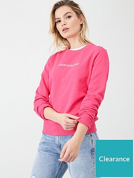 calvin-klein-jeans-institutional-crew-neck-sweatshirt-raspberry