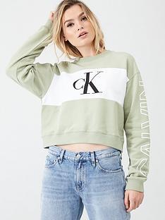 calvin-klein-jeans-statement-crew-neck-sweatshirt-sage