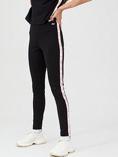 tommy-jeans-tape-detail-leggings-black