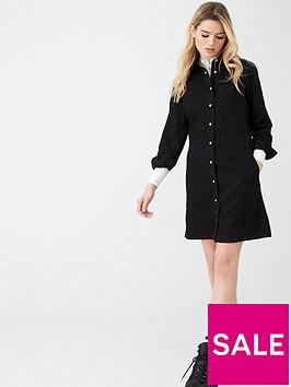 calvin-klein-jeans-long-sleeve-desert-dress-black
