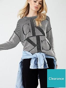calvin-klein-jeans-mirrored-monogram-ck-crew-neck-jumper-black