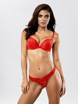 ann-summers-sexy-lace-demi-thong-red