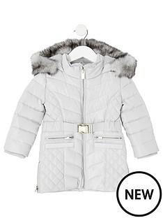 river-island-mini-mini-girls-padded-belted-longline-coat-grey