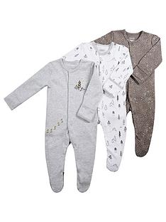 mamas-papas-unisex-baby-3-pack-sleepsuits-grey
