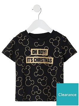 river-island-mini-mini-boys-mickey-mouse-christmas-t-shirt-black