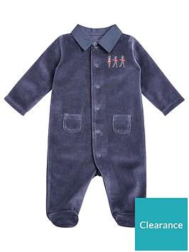 mamas-papas-baby-boys-soldier-single-sleepsuit-blue