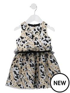 river-island-mini-mini-girls-chain-print-mesh-prom-dress-black