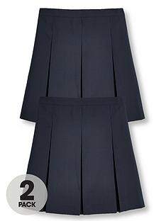 v-by-very-girls-2-pack-classic-pleated-school-skirts-navy