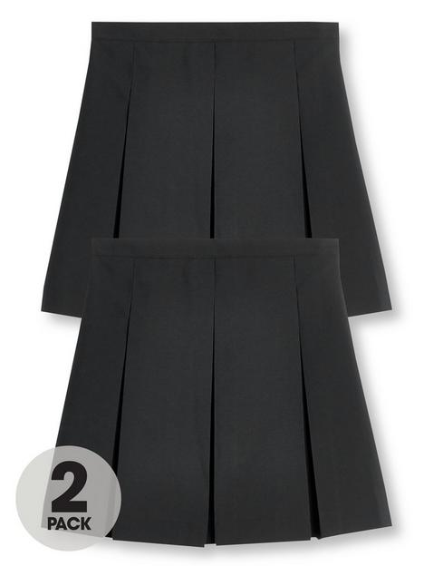 v-by-very-girls-2-pack-classic-pleated-school-skirts-plus-sizenbsp--black