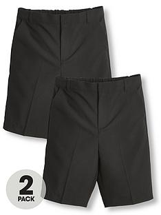 v-by-very-boys-2-pack-teflon-school-shorts-black