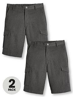 v-by-very-boys-2-pack-combat-school-shorts-grey