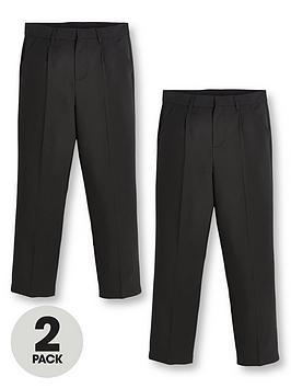 v-by-very-boys-2-pack-classic-woven-regular-fitnbspschool-trousers-black