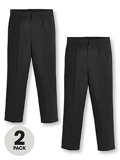 v-by-very-boys-2-pack-classic-woven-regular-school-trousers-black