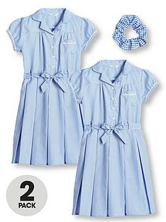 v-by-very-girls-2-pack-traditional-gingham-school-dress-blue