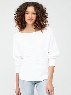 v-by-very-off-the-shoulder-knitted-jumper-white