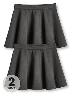 v-by-very-girls-2-pack-woven-skater-school-skirts-grey