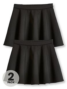 v-by-very-girls-2-pack-woven-skater-school-skirts-black