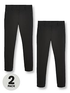 v-by-very-girls-2-pack-skinny-school-trousers-black
