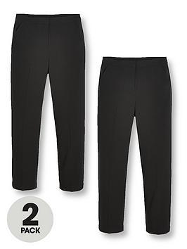 v-by-very-girls-2-pack-woven-school-trouser-reg-black