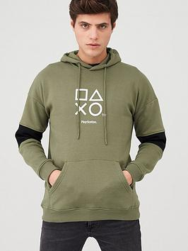 playstation-playstation-hoodie-khaki