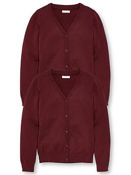 v-by-very-girls-2-pack-school-cardigans-burgundy