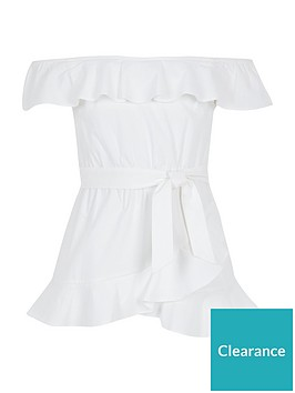 river-island-girls-tie-waist-bardot-top-white